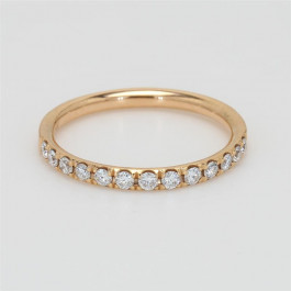 Ladies' Diamond Half-Way Band 0.30tw  18K Rose Gold
