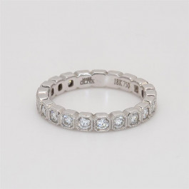 Ladies' Diamond Three-Quarter Way Band 0.58tw  18K White Gold