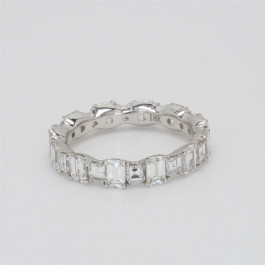 Oliva Collection, Ladies' Diamond Eternity Band 2.96tw  18K White Gold