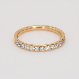 Ladies' Diamond Half-Way Band 0.43tw  18K Rose Gold