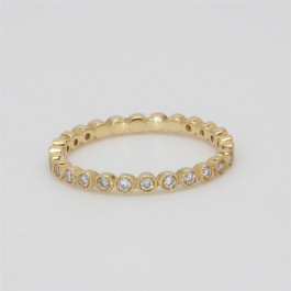 Ladies' Diamond Eternity Band 0.32tw  18K Yellow Gold