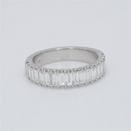Ladies' Diamond Half-Way Band 1.37tw  18K White Gold