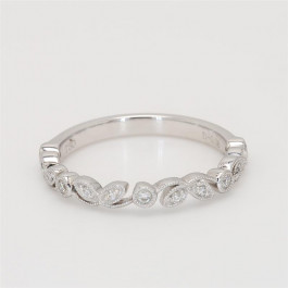 Ladies' Diamond Three-Quarter Way Band 18K White Gold