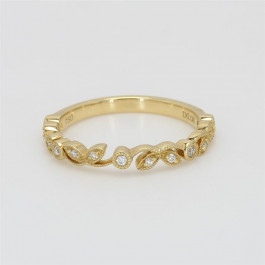 Ladies' Diamond Half-Way Band 18K Yellow Gold