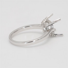 Ladies' Engagement Ring Setting 0.11tw  18K White Gold