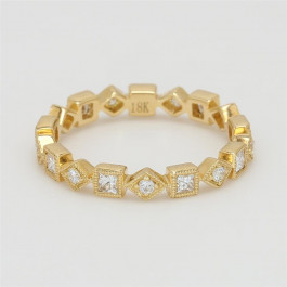 Ladies' Diamond Eternity Band 0.54tw  18K Yellow Gold