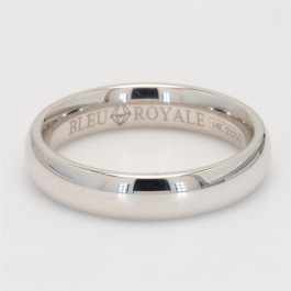 Crown Ring, Mens' Wedding Band 14K White Gold