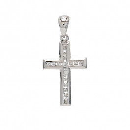 Ladies' Cross Pendant 18K White Gold