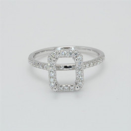 Ladies' Engagement Ring Setting 0.36tw  18K White Gold