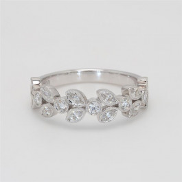 Ladies' Diamond Half-Way Band 0.66tw  18K White Gold