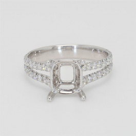 Oliva Collection, Ladies' Engagement Ring Setting 0.58tw  18K White Gold