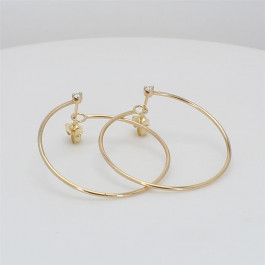 Zoe Chicco, Ladies' Diamond Hoop Earrings 14K Yellow Gold