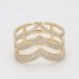 LA Hip, Ladies' Diamond Fashion Ring 0.46tw  14K Yellow Gold