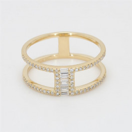 LA Hip, Ladies' Diamond Fashion Ring 0.27tw  14K Yellow Gold