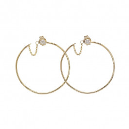 LA Hip, Ladies' Diamond Fashion Earrings 0.16tw  14K Yellow Gold