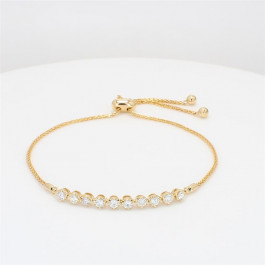 LA Hip, Ladies' Diamond Fashion Bracelet 0.58tw  14K Yellow Gold