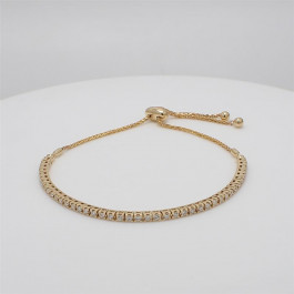 LA Hip, Ladies' Diamond Fashion Bracelet 0.94tw  14K Yellow Gold