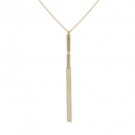 LA Hip, Ladies' Diamond Fashion Necklace 14K Yellow Gold