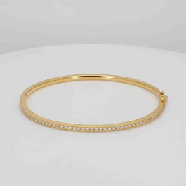 Ladies' Diamond Bangle 0.48tw  18K Yellow/ White Gold