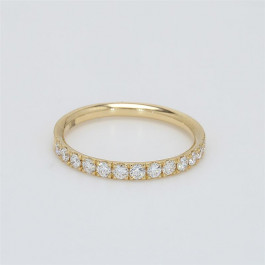 Ladies' Diamond Half-Way Band 0.38tw  18K Yellow Gold
