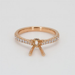 Ladies' Engagement Ring Setting 0.28tw  18K Rose Gold