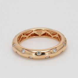 Ladies' Diamond Fashion Ring 0.32tw  18K Rose Gold