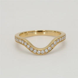 Ladies' Diamond Half-Way Band 0.39tw  18K Yellow Gold