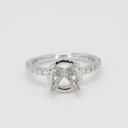 Ladies' Engagement Ring Setting 0.49tw  18K White Gold