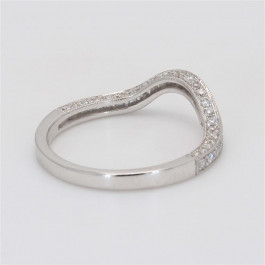 Ladies' Diamond Half-Way Band 0.37tw  18K White Gold