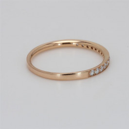 Ladies' Diamond Half-Way Band 0.21tw  18K Rose Gold