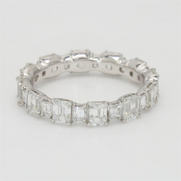 Ladies' Diamond Eternity Band 2.77tw  18K White Gold