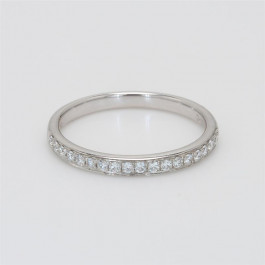 Ladies' Diamond Half-Way Band 0.20tw  18K White Gold