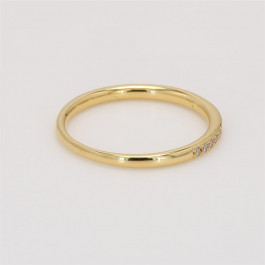 Ladies' Diamond Half-Way Band 0.14tw  18K Yellow Gold