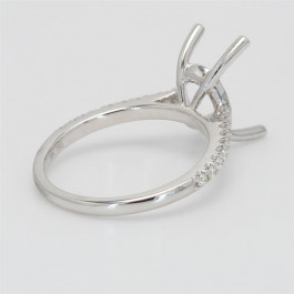 Ladies' Engagement Ring Setting 0.20tw  18K White Gold