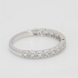 Ladies' Diamond Half-Way Band 0.14tw  14K White Gold