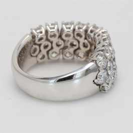 Ladies' Diamond Fashion Ring 3.88tw  18K White Gold