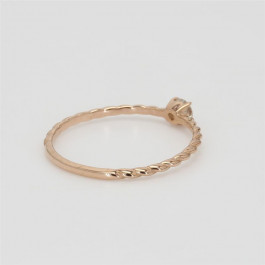 LA Hip, Ladies' Diamond Fashion Ring 0.10tw  18K Rose Gold