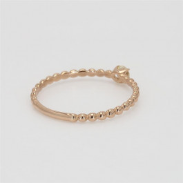 Bead It, Ladies' Diamond Fashion Ring 0.10tw  18K Rose Gold