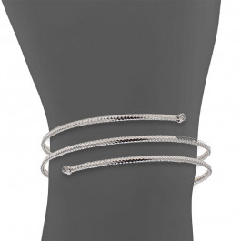 LA Hip, Ladies' Diamond Bangle 18K White Gold