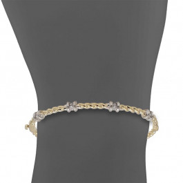 Ladies' Diamond Bangle 0.19tw  14K Yellow Gold
