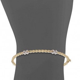 Ladies' Diamond Bangle 0.10tw  14K Yellow Gold
