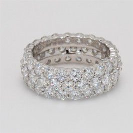 Ladies' Diamond Eternity Band 5.62tw  14K White Gold