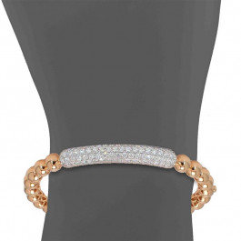 Bead It, Ladies' Diamond Bangle 1.95tw  18K Rose/ White Gold
