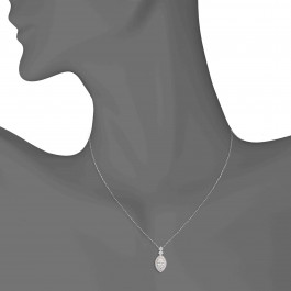 1.80 CT Marquise Diamond Halo Pendant in White Gold