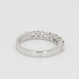 Ladies' Diamond Half-Way Band 0.77tw  18K White Gold