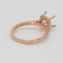 Ladies' Engagement Ring Setting 0.38tw  18K Rose Gold