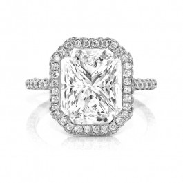 Opulent Diamond Halo Ring