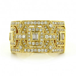 Objet d'Art Yellow Gold Diamond Ring
