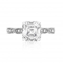 White Gold Asscher Diamond Ring