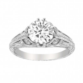 Vintage Style Round Cut Diamond Ring